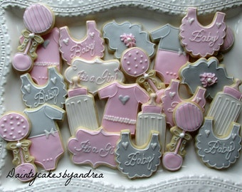 1 dozen baby shower cookies!