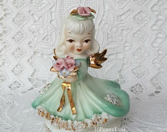 Vtg Lefton Thursday's Child Figurine Angel Birthday
