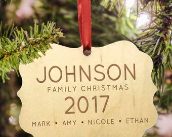 Personalized Family Christmas Ornament - Christmas ornament personalized family of 4 - Christmas Family Ornament family of 5