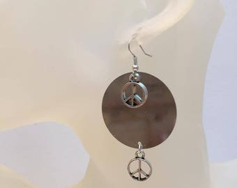 Earrings Dragon silver circle