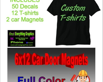 Business Start Up Kit, Magnets, Decals, T-Shirts