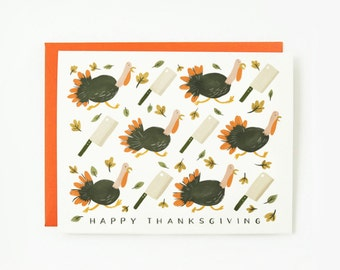 Run-away Turkey Card 1pc