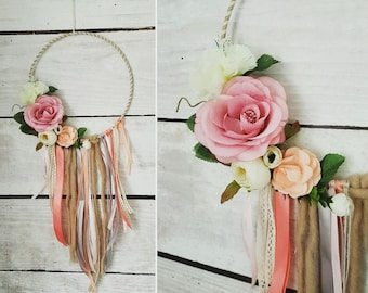 Dream catcher / romantic floral dreamcatcher