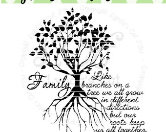 Family Tree SVG/DXF file