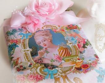 Marie Antoinette Let Us Eat Cake Portrait Gift Wrap 4  Sheets