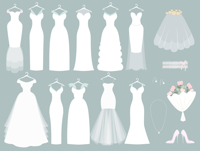wedding clipart wedding dress clipart bridal clipart bride wedding dress clip art images wedding dress clipart black & white