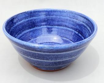 Blue Mixing Bowl - Small Serving Bowl - Prep Bowl