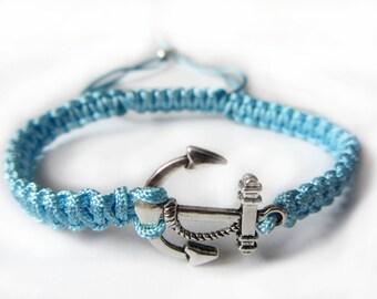 Nylon cord Marine-style bracelet