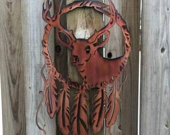 Deer Dream Catcher Metal Wall Art