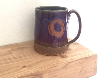 pottery mug, coffee lover, ultra violet purple, coffee mug pottery, birthday gifts for her, coffee mug pottery, colorful ceramics, handmade
