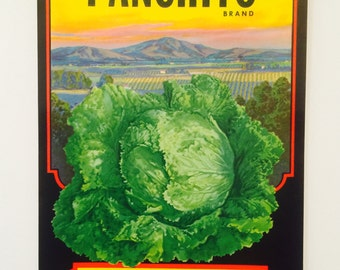 Vegetable Crate Label for Panchito Brand Lettuce