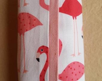 Flamingo inspired travel tissue holder