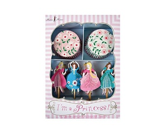 I'm A Princess Cupcake Kit, Fairy Tales, Theme, Party, Baking, Supplies, Meri Meri