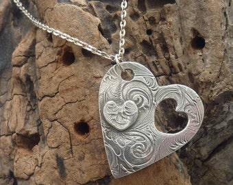 Silver Heart on a Heart