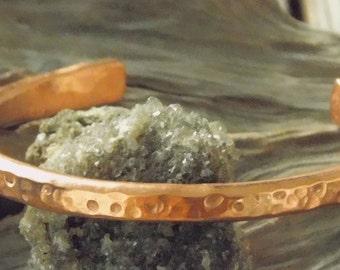 Hammered Cuff Bracelet - Rustic Copper Bracelet for Men