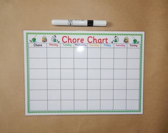 household chore charts for adults