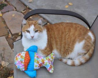 Catnip Toys, Pet Supplies, Pet Toys, Cat Toys, Fabric Catnip Toys, Fabric Cat Toys, Handmade Cat Toys, Small Cat Toy, Fish Cat Nip Toy