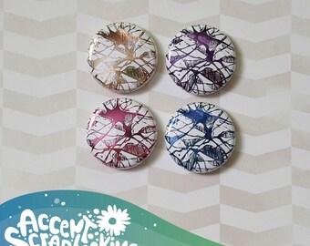 "Badge 1 ""- metallic squiggles #1 (Design by KareenBH)"