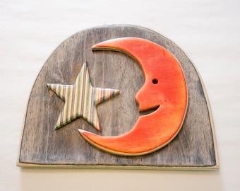 Star and Moon Wall Art