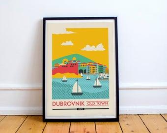 Dubrovnik Digital Print | Digital Download | Travel Poster