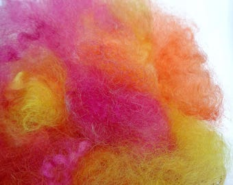 Hand Dyed Picked English Leicester  - 25gm