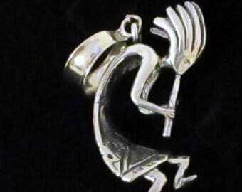 Kokopelli Pendant Silver Vintage Southwestern Necklace Pendant SWN138