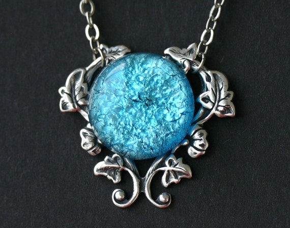 Turquoise blue fire opal necklace aloadofball Choice Image