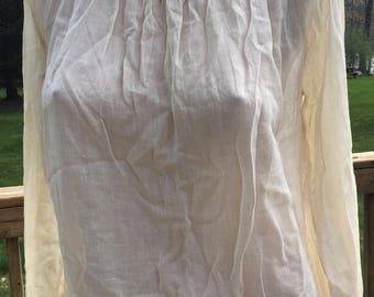 Beautiful 1940's 1950's Smocked Long Sleeve Peasant Vintage Blouse Shirt Gypsy Girl
