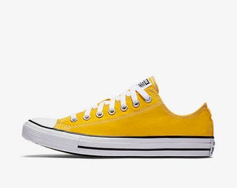 Bride Or Groom Yellow Converse Wedding Shoes Yellow Wedding Shoes Bridal  Painted Wedding Groomu0027s Converse Custom Wedding Shoes Converse