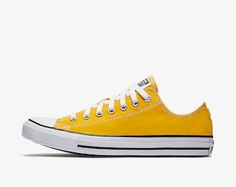 Bride Or Groom Yellow Converse Wedding Shoes Yellow Wedding Shoes Bridal  Painted Wedding Groomu0027s Converse Custom Wedding Shoes Converse