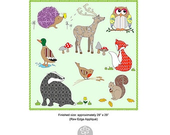 Woodland Friends - Raw Edge Appliqué Pattern