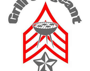 Grill Sergeant SVG Cutting File for the Cricut