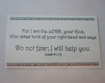 Five Mini Prayer Cards - Do Not Fear; I Will Help You