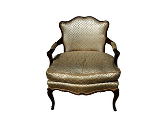 Vintage Ladies French Provincial Bergere French Country Ladies Armchair  French Classic French Petite Boudoir Chair