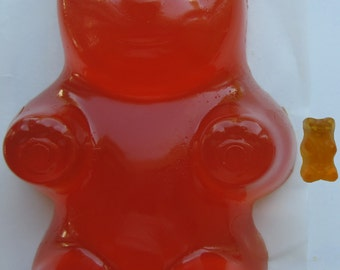 """Edible Giant Gummy Bear.  ORANGE.  Made ONLY from the authentic Haribo product.  """"Haribomb"""""""