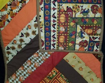 Thanksgiving Quilted Patchwork Table Runner