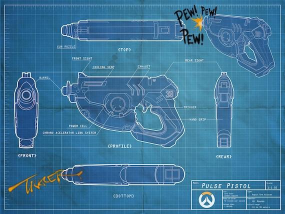 Tracers gun blueprint poster 13 x 19 malvernweather Gallery