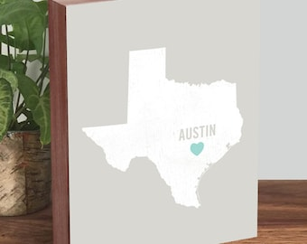 Austin Texas Wall Art - Austin Texas Map - Austin Texas Art - Austin Texas Print