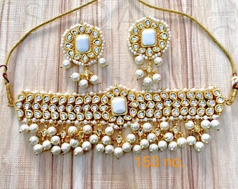 Kunden and Pearls Choker Set