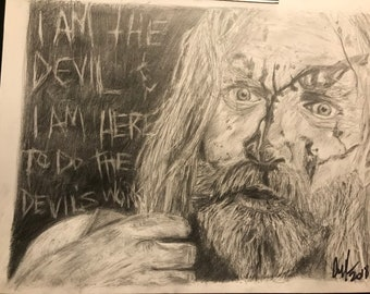 Print of Otis from devils rejects