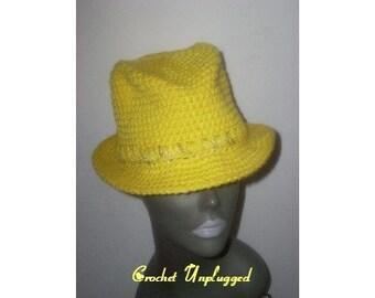 Crocheted Fedora