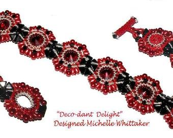 Deco-Dant Delight Needlework Bracelet Tutorial PDF