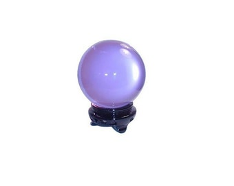 "Feng Shui Natural Lavender Quartz Crystal Ball 3"", Crafting Crystal Ball For Attracting Positive Energy Or Tapping Into Higher Inner Power"