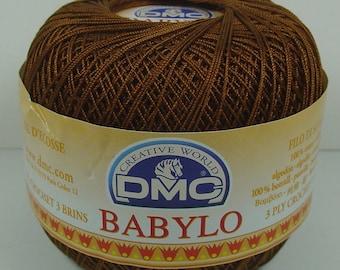 SCOTLAND NO. 20 CHOCOLATE CROCHET DMC BABYLO THREAD SPOOL 50 GRAMS