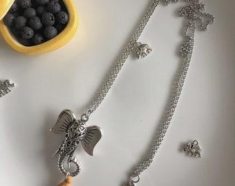 Etnochic necklace, long necklace, chain necklace, steel, elephant, gift idea