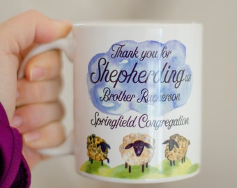 JW | Custom Thank You Mug | Elder's Gift | Present | Thank you for shepherding us | Isaiah 32:2 | Jehovah's Witnesses | Pioneer Gift