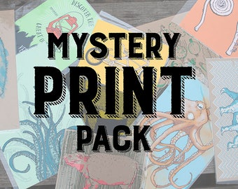 SALE Mystery Print Pack Two screenprinted posters deal