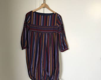 Super cute vintage striped balloon dress xs/s