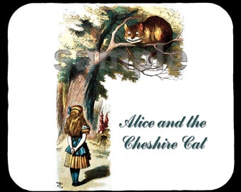 Mouse Pad; Alice And The Cheshire Cat Alice In Wonderland