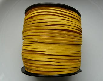 Cord faux leather 3 mm yellow meter